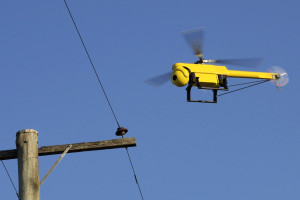 Camclone T21 UAV fitted with CSIRO guidance system used to inspect power lines