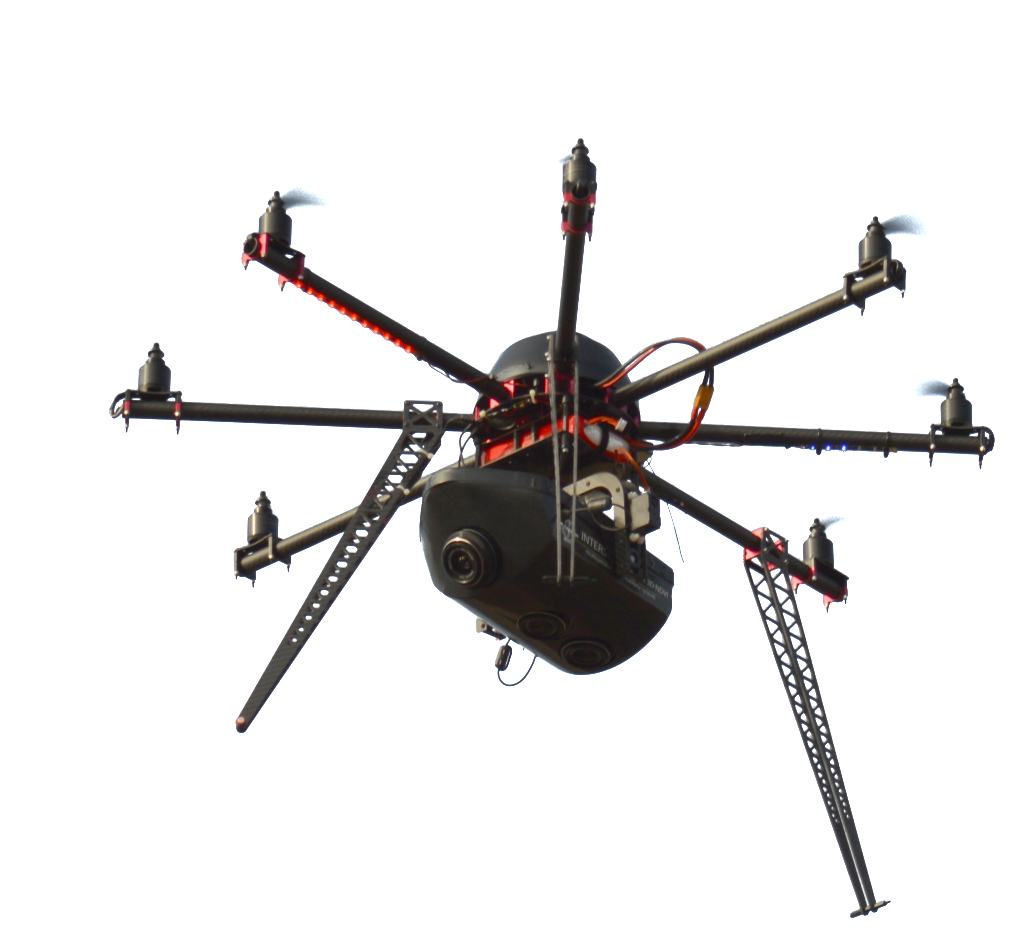 Interspect UAS B 3.1 octocopter for commercial aerial cartographic purposes and 3D mapping